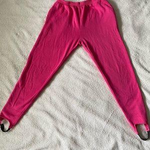Vintage Hot pink eighties stirrup sweat pants